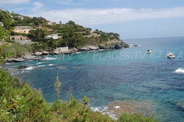 Rocks near Erbalunga in Corsica