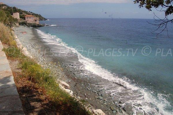 Erbalunga beach in Cap Corse in Brando - Corsica