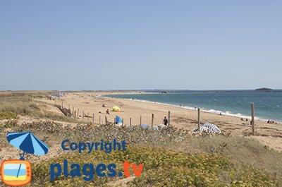 Beach in Erdeven in France