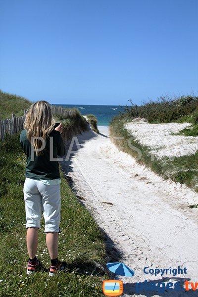 Sentier d'accès à la plage d'Erleac'h à Saint Pabu
