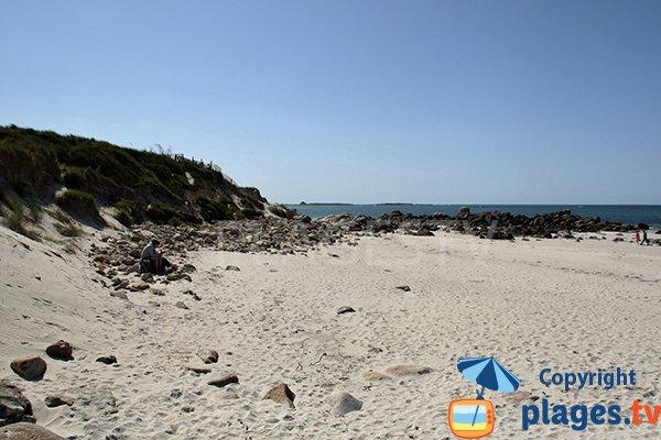 belvédère de la plage d'Erleac'h à Saint Pabu