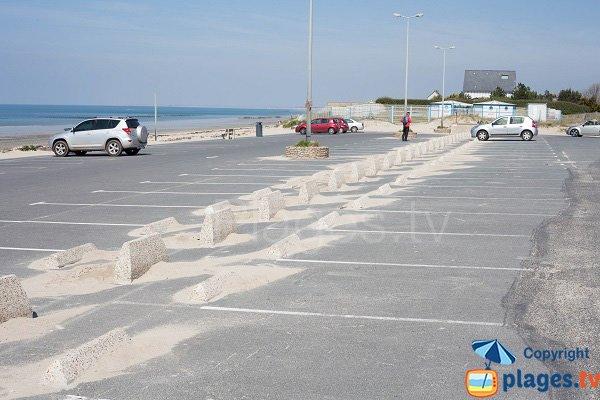 Parking de la plage de l'Ermitage à Donville