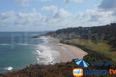 Beach in Erquy in France