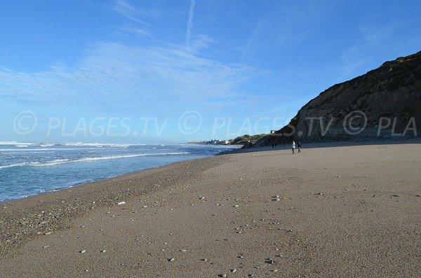 Foto della spiaggia Erretegia a Bidart e vista su Biarritz