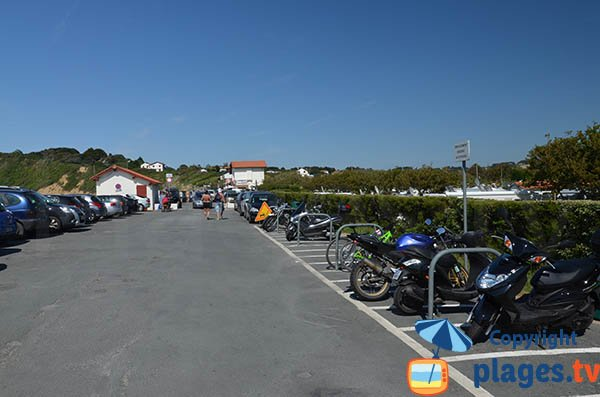 Parking et camping de la plage Erromardie - St Jean de Luz