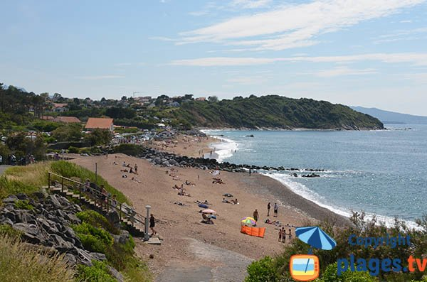 Erromardie beach in Saint Jean de Luz in France