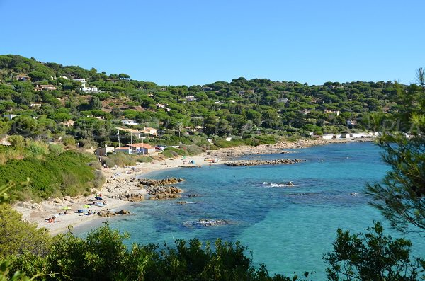 Photo of the Escalet beach from the coastal path - Ramatuelle