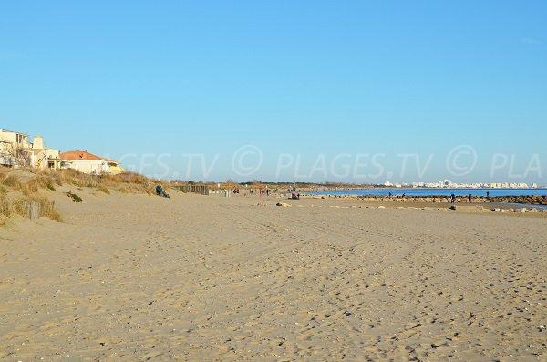 East Beach in Carnon Plage overlooking La Grande Motte