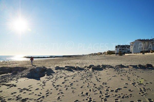 Great sandy beach in Carnon towards La Grande Motte