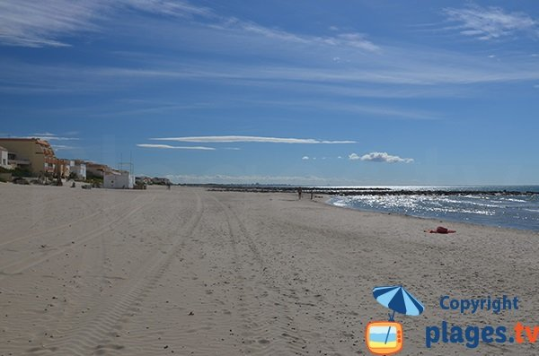 Photo de la plage à la sortie de Carnon