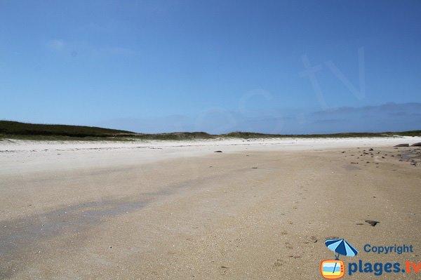 Plus belle plage de l'ile d'Aganton à Pleumeur Bodou