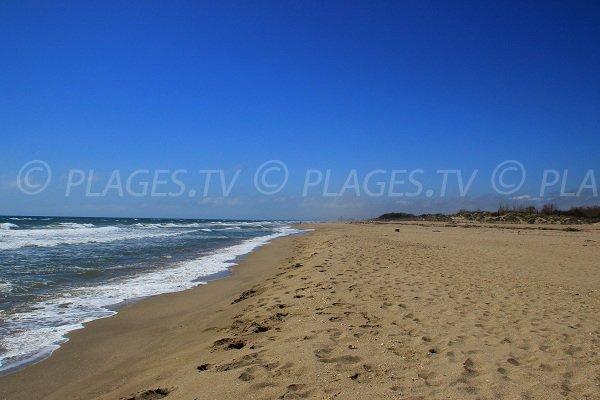 East beach in Portiragnes towards Serignan