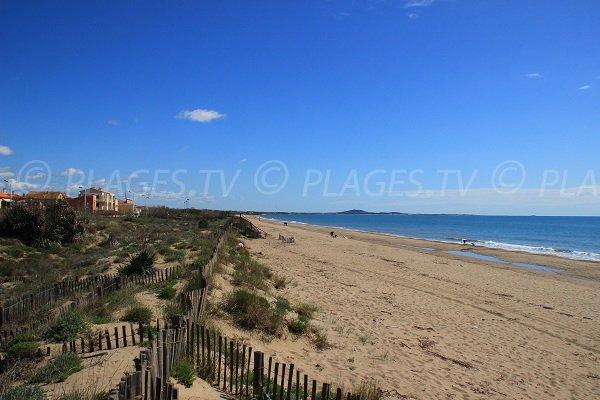 Beach in Portiragnes towards Vias