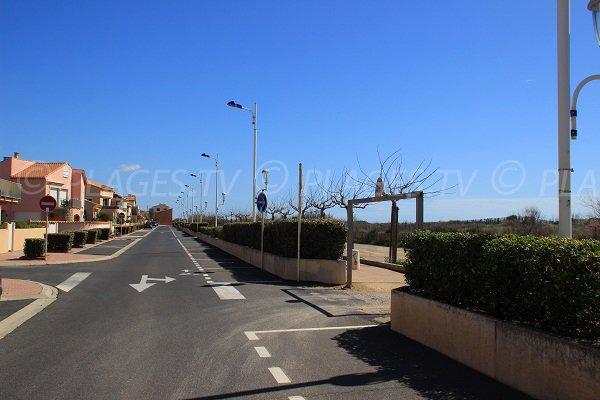 Boulevard du Front de Mer à Portiragnes