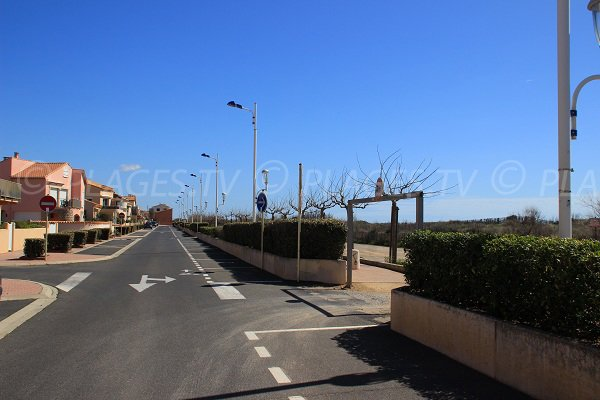 Boulevard du Front de Mer in Portiragnes