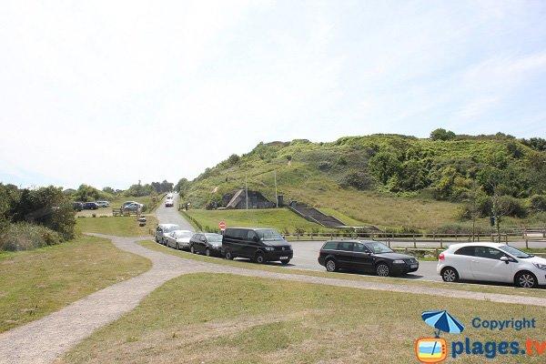 Parking of St Laurent sur Mer beach