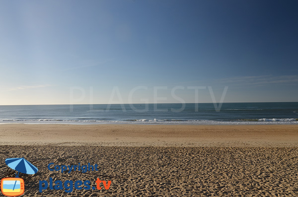 Photo de la plage dans le centre de Capbreton