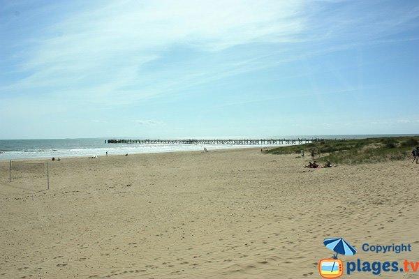 Estacade beach in St Jean de Monts - France