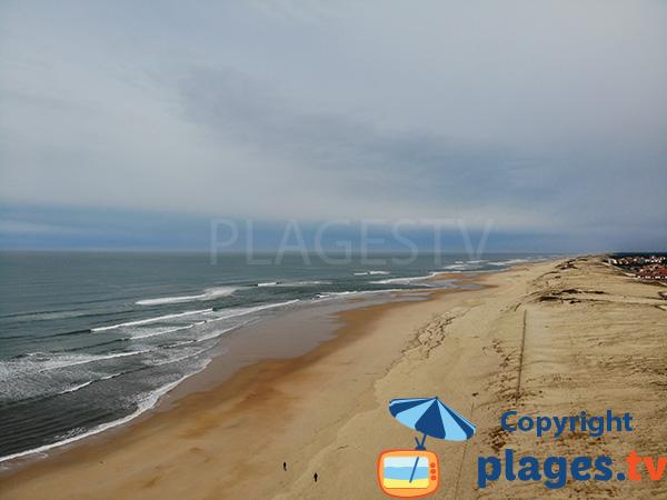 Grande plage au sud de Seignosse