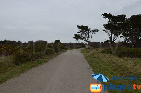 Chemin d'accès à la plage de l'étang - Pornic