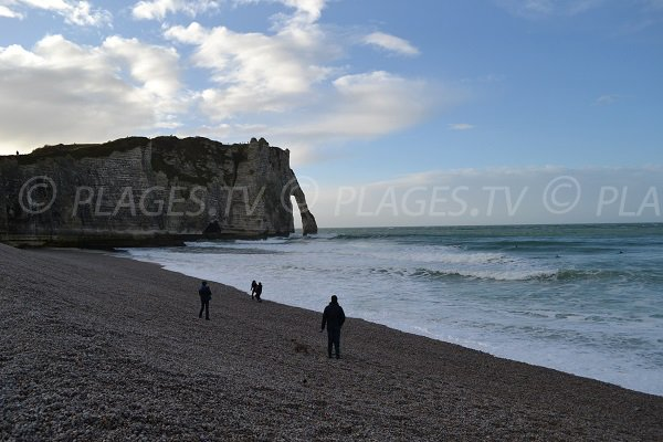 Photo de la plage d'Etretat