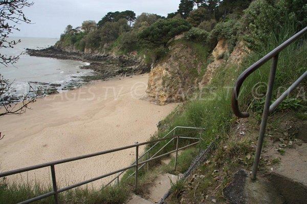 Access to St Eugène beach - St Nazaire