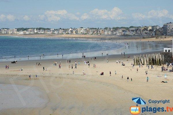 Spiaggia Eventail e la spiaggia Sillon di Saint-Malo
