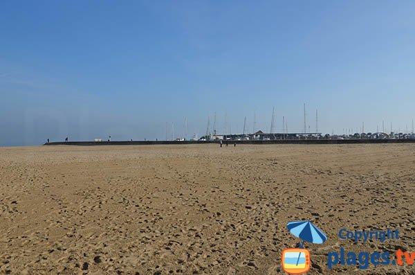 Vue sur le port de plaisance depuis la plage d'Eyrac - Arcachon