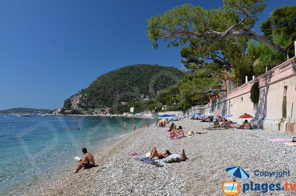 Public beach in Eze