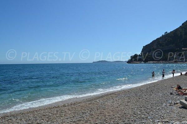 Saint Jean Cap Ferrat depuis la plage d'Eze
