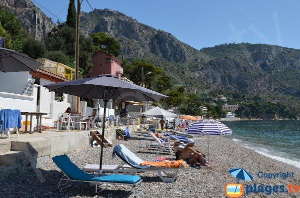 Cabanas on the Eze beach