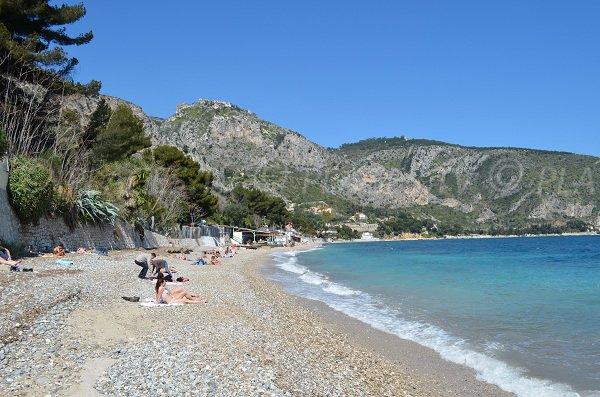 Eze beach in France