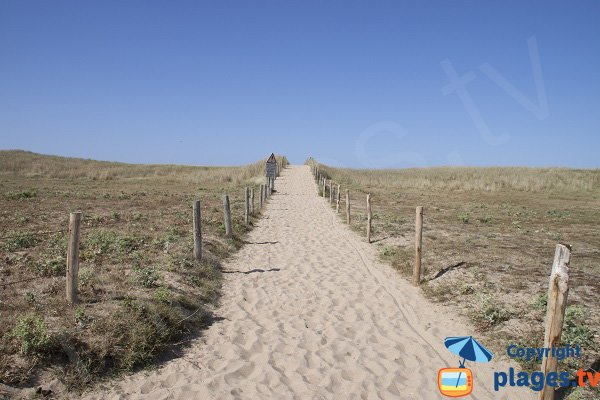 Access to Falaise beach by dune - Guidel