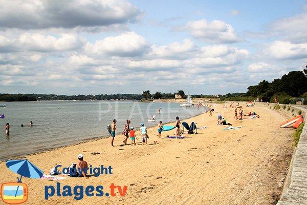 Photo de la plage de la Falaise sur l'ile d'Arz