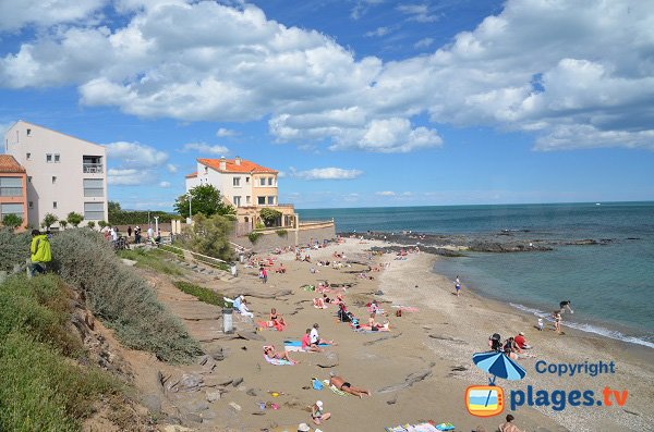 Falaises beach of Cape d'Agde in France