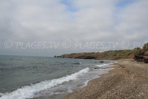 Partie droite de la plage de la Falaise du Cap d'Agde