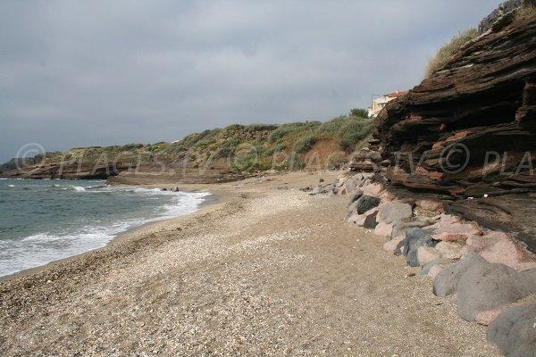 Rocks on the Cape d'Agde beach