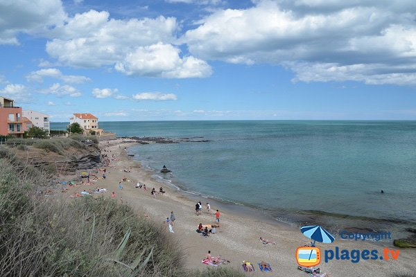 Falaises beach in Cape d'Agde in France