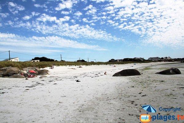 Dunes de la plage de Fanal à Kerlouan - Bretagne