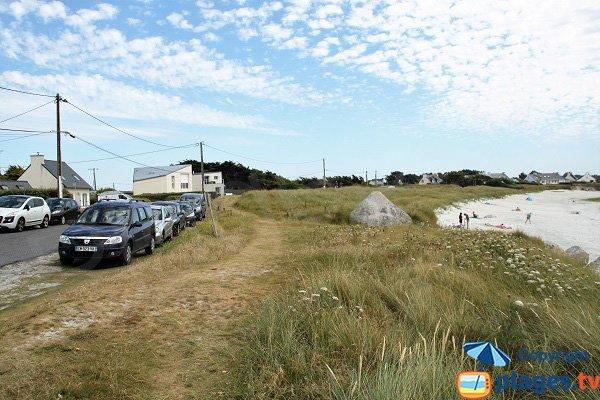Parking de la plage de Fanal à Kerlouan