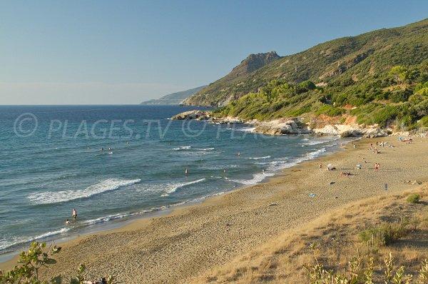 Farinole beach in Corsica