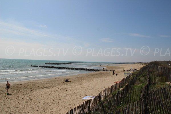 Spiaggia della Farinette a Vias-Plage - Francia