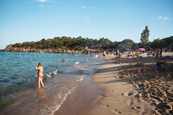 Sand beach of Fautea in Ste Lucie de Porto Vecchio - South of Corsica