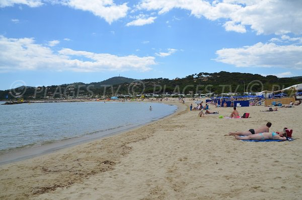 Private beach on the Faviere beach in Bormes les Mimosas