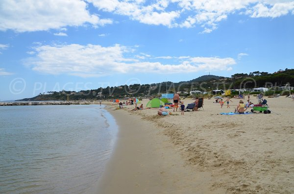 Faviere beach and view on the Ris point - Bormes les Mimosas
