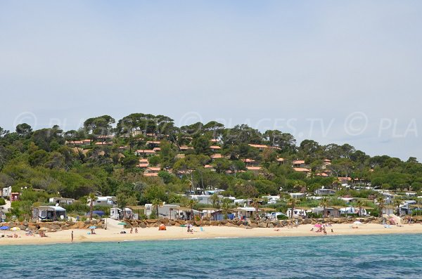 Faviere beach in Bormes vue from the sea