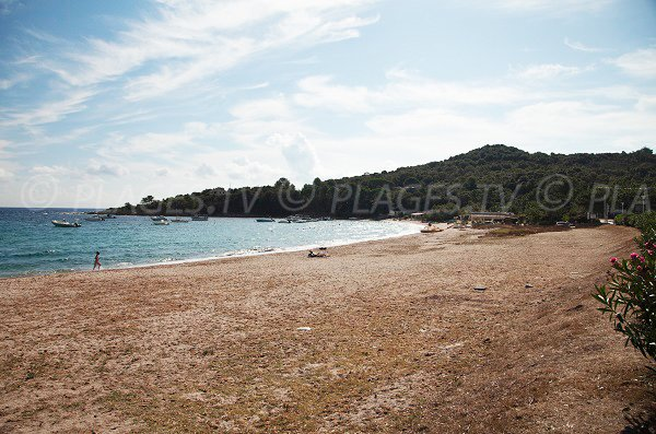Photo of Favone beach toward Guardia tip - Corsica
