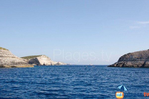 Bonifacio view from Fazzio beach