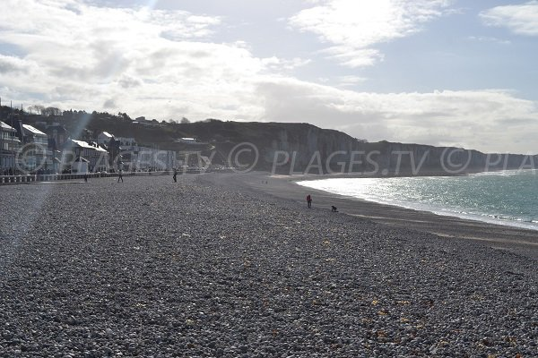 Photo de la plage de Fécamp en Normandie
