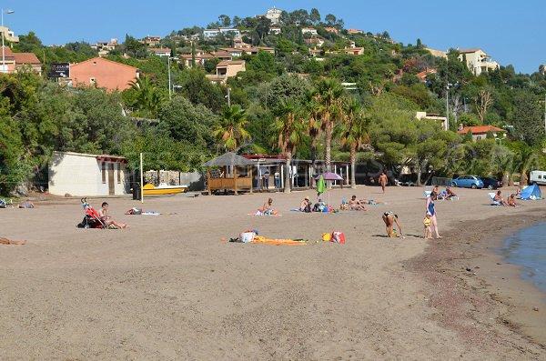 Sand beach in Esterel in Miramar (Theoule sur Mer)